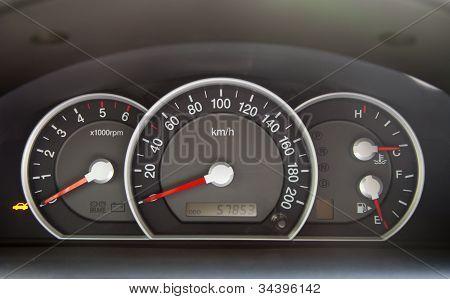 Speedometer  In The Car