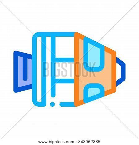 Spaceship Return Unit Icon Vector. Outline Spaceship Return Unit Sign. Isolated Contour Symbol Illus