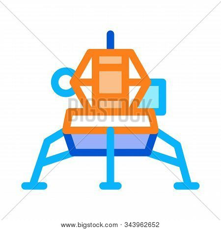 Manned Spacecraft Icon Vector. Outline Manned Spacecraft Sign. Isolated Contour Symbol Illustration