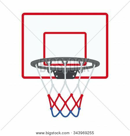 Illustration Of A Basketball Ring Icon On A White Background