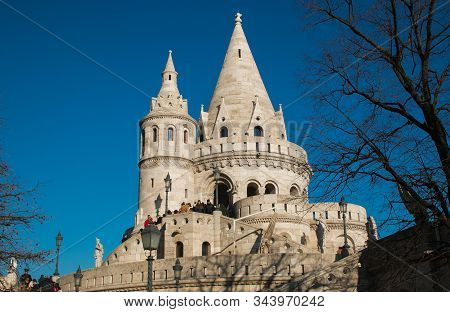 Budapest Hungary - Januart 1 2020 Fishermans Bastion Is One Of The Top Budapest Attractions Lovely L