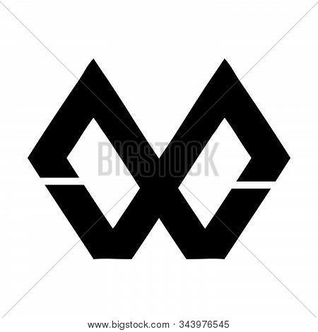 Mw, Wm, Mxw, Wxm Initial Geometric Company Logo And Vector Icon