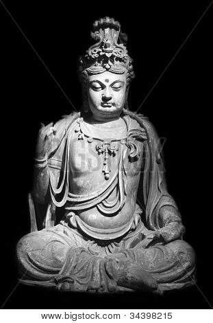 Statue of sitting Buddha