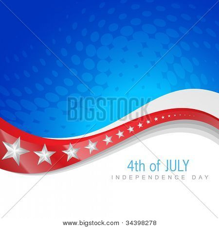 vector 4th of july independence day design art poster
