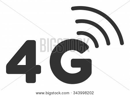 4g Vector Icon. Flat 4g Symbol Is Isolated On A White Background.