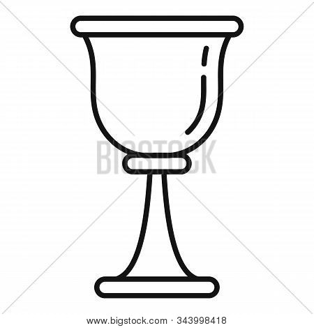 Prayer Cup Icon. Outline Prayer Cup Vector Icon For Web Design Isolated On White Background