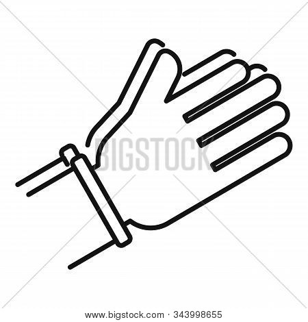 Prayer Hands Icon. Outline Prayer Hands Vector Icon For Web Design Isolated On White Background