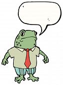 cartoon business toad poster