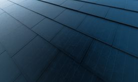 Solar Roof Concept. Building-integrated Photovoltaics System Consisting Of Modern Monocrystal Black