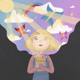 Girl Dreaming, Reading Fairytale.fantasy Portrait. Baby Illustration. Art Portrait. Fantasy Literatu