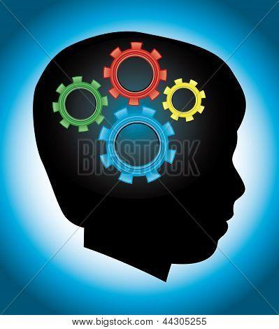 Child Development, Education, Autism, Silhouette