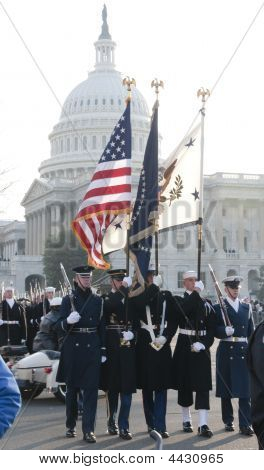 Color Guard At U.s. Capitol