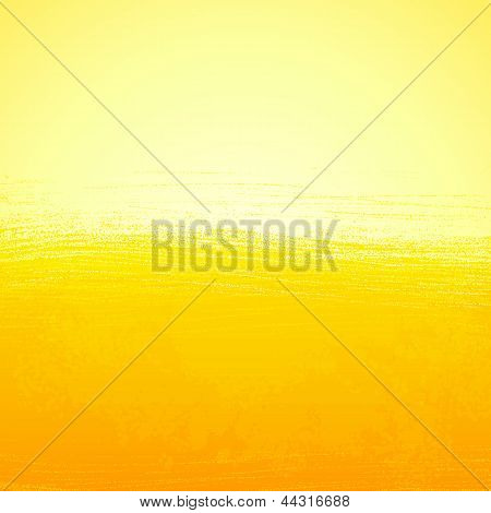 Abstract bright painted orange sunny background
