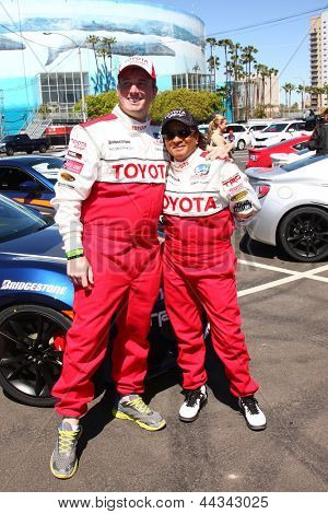 LOS ANGELES - APR 9:  Dakota Meyer, Wanda Sykes at the Toyota ProCeleb Race Press Day 2013 at the Toyoto Grand Prix Circuit on April 9, 2013 in Long Beach, CA