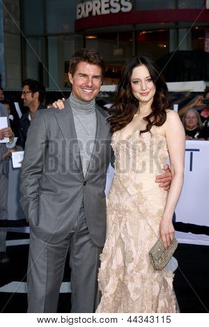 LOS ANGELES - APR 10:  Tom Cruise, Andrea Riseborough arrives at the