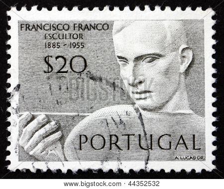 Postage Stamp Portugal 1971 Francisco Franco, Portuguese Sculptor