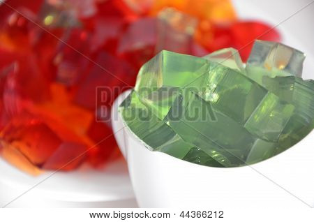 Green and red jelly