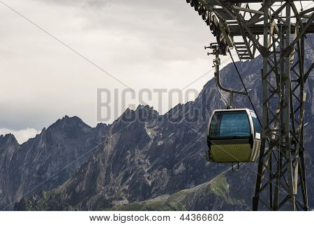 Aerial Cableway In The Alps