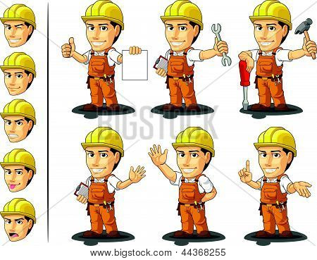 Industrial Construction Worker Mascot 2