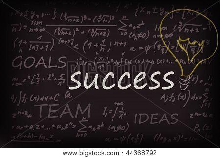 Succes Word On Chalk Board