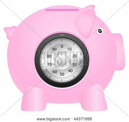 Coinbank And Combination Lock