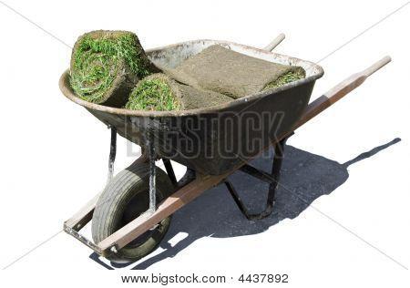 Wheelbarrow With Grass