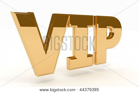 golden word VIP on a white background