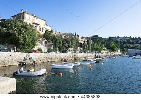 Adriatic fishing port, scenic view