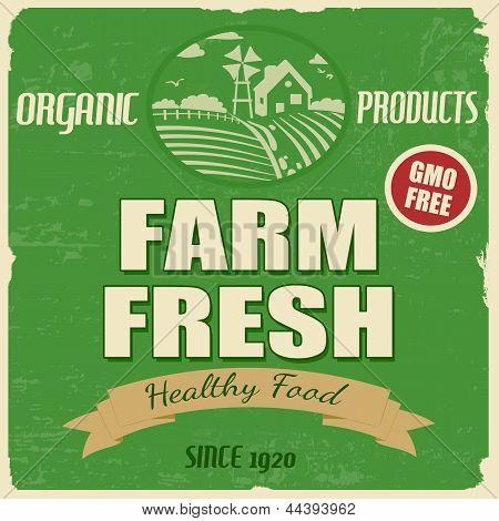 Bauernhof frisch Poster