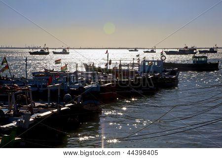 Twilight At Dwarka Harbor