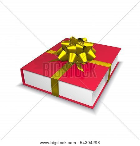 Red Book With Ribbon And Bow