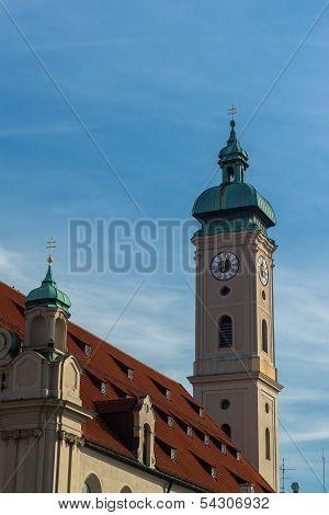 Buildings in munich city center, Marienplatz