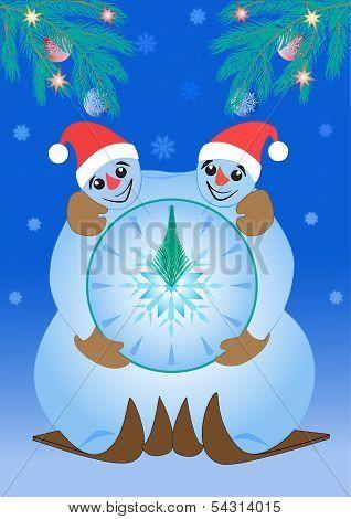 snowmen clock
