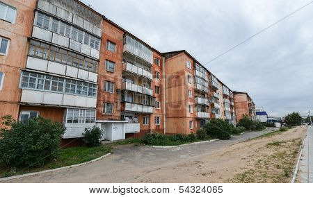 Soviet Style Apartment Block. Also know as Panel Buildings. They are not known for their durability. poster