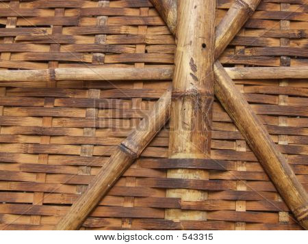wooden texture pattern made of a wicker basket - brown close-up. poster