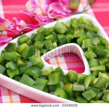 Salad of paprika