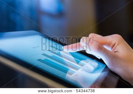 Woman Holding Digital Tablet, Closeup