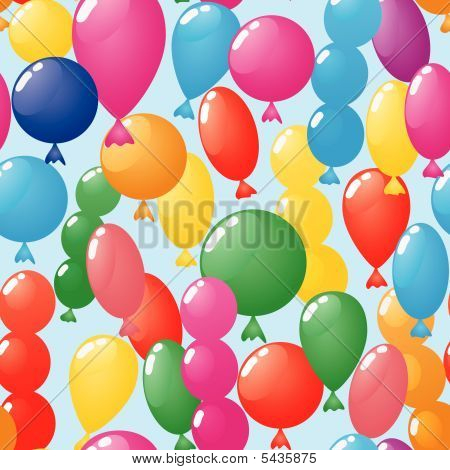 Abstract Balloons Background. Seamless.