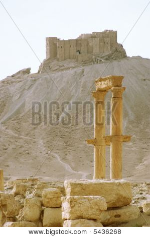 columns in ancient Palmyra Syria place roman ruins poster