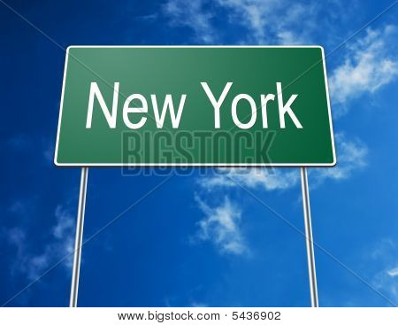 Road Sign New York
