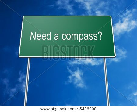 Road Sign Need A Compass?