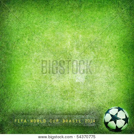 Grunge background Brazil 2014, World Cup