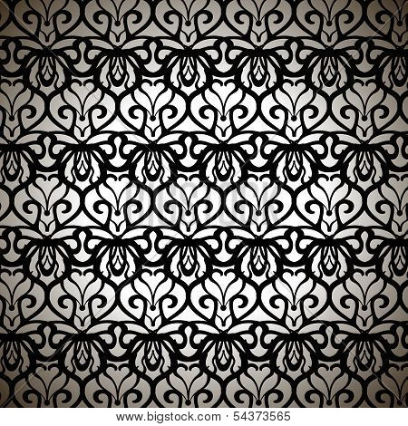 Sophisticated Forged Pattern On White Background