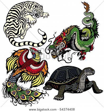 Four Feng Shui Animals