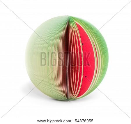 Paper Stick Note Watermelon Isolated