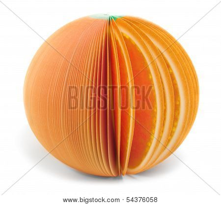 Paper Stick Note Orange Isolated