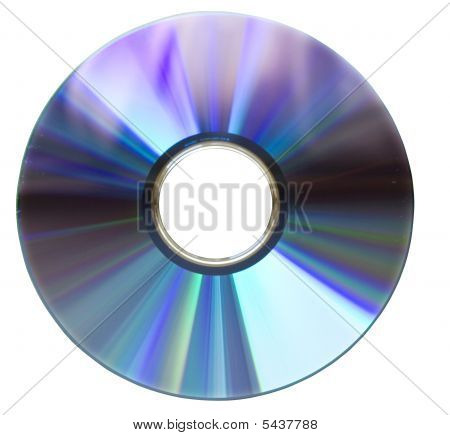 Dvd Disk On White
