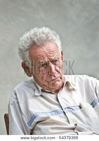 Cranky senior man