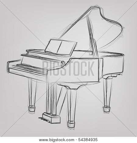 Vector sketched Piano