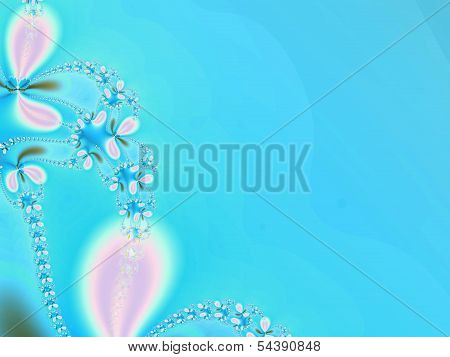 Blue abstract flower background
